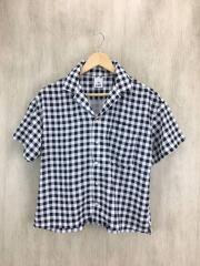 半袖シャツ/1/ポリエステル/チェック/開襟シャツ/05182403