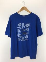 ベアプリント/Tシャツ/XL/コットン/ブルー/2019model
