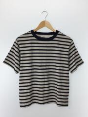 ROUGH COTTON STRIPE/Tシャツ/2/コットン/ネイビー/ボーダー