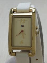 クォーツ腕時計/アナログ/ラバー/GLD