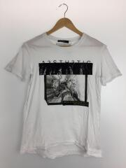 プリントTシャツ/S/コットン/ホワイト