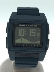 ×Ron Herman/THE BASE TIDE PRO/クォーツ腕時計/ネイビー/A12523030-00
