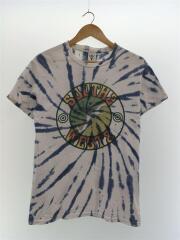 Tシャツ/S/コットン/WHT/無地/タイダイTシャツ