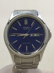 クォーツ腕時計/アナログ/BLU/SLV/MTP-1239DJ