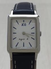 クォーツ腕時計/アナログ/WHT/NVY