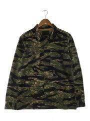ジャケット/L/コットン/GRN/カモフラ/0121409