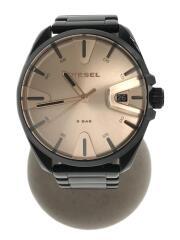 クォーツ腕時計/アナログ/BEG/BLK/DZ-1904