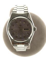 クォーツ腕時計/アナログ/ステンレス/PNK/SLV/M01K-Q1