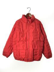 19SS/Bonded Logo Puffy Jacket/ダウンジャケット/L/ナイロン/RED