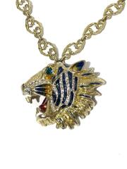 Roaring tiger pendant necklace gold/ネックレス/--/GLD/トップ有
