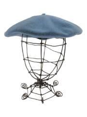 ベレー帽/--/ウール/BLU/無地/ボルサリーノ