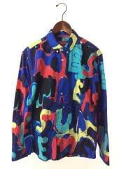 長袖シャツ/M/コットン/BLU/総柄/20ss/Painted Logo Shirt