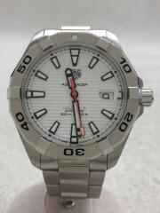 自動巻腕時計・アクアレーサーキャリバー5/アナログ/ステンレス/WHT/SLV