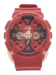 クォーツ腕時計/デジタル/セラミック/RED/GA-120TR/トリコロールシリーズ