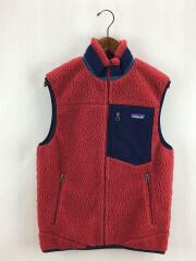 Classic Retro-X Vest/フリースベスト/S/ポリエステル/RED/23047FA14