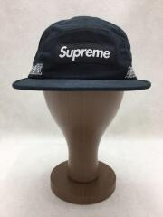 19SS/Side Tape Camp Cap/Boxlogo/コットン/BLK