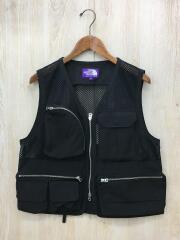 19SS/Mesh Angler Vest/S/ポリエステル/BLK/NP2914N