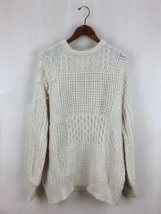 セーター(厚手)/FREE/ウール/WHT
