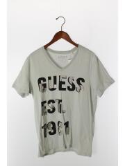 Tシャツ/M/コットン/グレー/プリント
