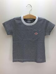 Tシャツ/105cm/ホワイト×ネイビー/S/コットン/NVY/ボーダー