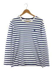 長袖Tシャツ/2/コットン/ブルー/青/白/ホワイト/ボーダー