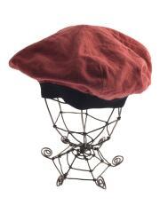 ベレー帽/--/リネン/ボルドー