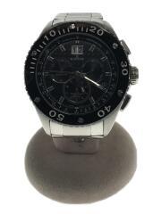 腕時計/アナログ/ステンレス/ブラック/シルバー/10017