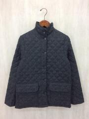 キルティングジャケット/34/ウール/GRY/スコットランド製