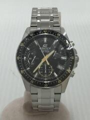 エディフィス/クォーツ腕時計/アナログ/ステンレス/BLK/SLV/EFV-540-1A9VUDF