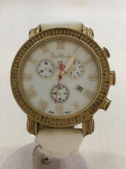 ダイアモンドウォッチ/クォーツ腕時計/アナログ/レザー/WHT/JCL23