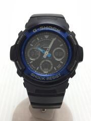 クォーツ腕時計・G-SHOCK/デジアナ/ラバー/BLK/AW-591-2AJF