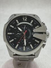 メガチーフ/クォーツ腕時計/アナログ/ステンレス/BLK/SLV/DZ-4308