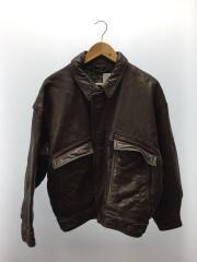 レザージャケット・ブルゾン/M/牛革/BRW/6259450