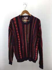 セーター(厚手)/M/コットン/マルチカラー/ストライプ
