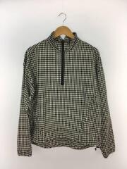 ギンガムハーフジップL/Sシャツ/1/コットン/BLK/ギンガムCK/タグ付き