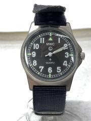 腕時計/ブロードアロー/ミリタリー/アナログ/ナイロン/BLK/BLK