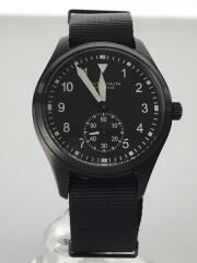 クォーツ腕時計/アナログ/キャンバス/BLK/BLK