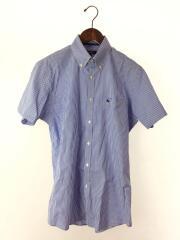 半袖シャツ/L/コットン/BLU/ギンガムCK/D1L14-520-22