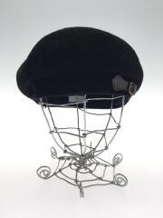 ベレー帽/--/ウール/BLK/無地