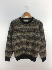 セーター(厚手)/M/ウール/マルチカラー/総柄