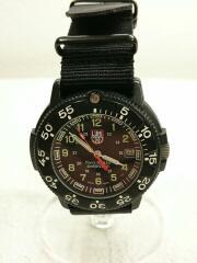 クォーツ腕時計/アナログ/--/BLK/BLK/NATOベルト交換/純正ラバーベルト付属