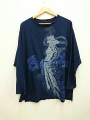 18aw/長袖Tシャツ/2/コットン/NVY/無地