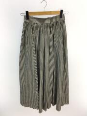 ロングスカート/--/コットン/BLU/ストライプ