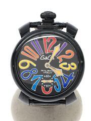 手巻腕時計/アナログ/レザー