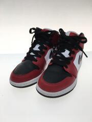 ハイカットスニーカー/23cm/RED/AIR JORDAN 1 MID GS CHICAGO BLACK TOE