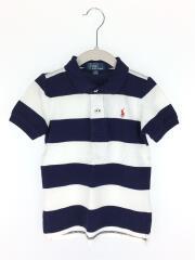 ポロシャツ/90cm/NVY/ボーダー