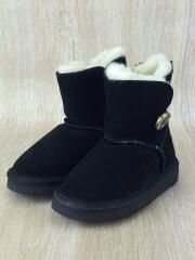 キッズ靴/17cm/ブーツ/BLK/LUAN/ムートンブーツ/中古