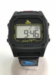 クォーツ腕時計/デジタル/ナイロン/BLK/BLK/中古