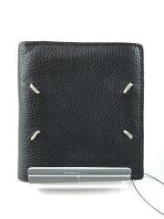 グレインレザー 二つ折り財布/財布/レザー/BLK/S35UI0438/中古