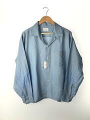 60sVINTAGE/ビンテージ/オープンカラーシャツ/長袖シャツ/XL/BLU/60年代
